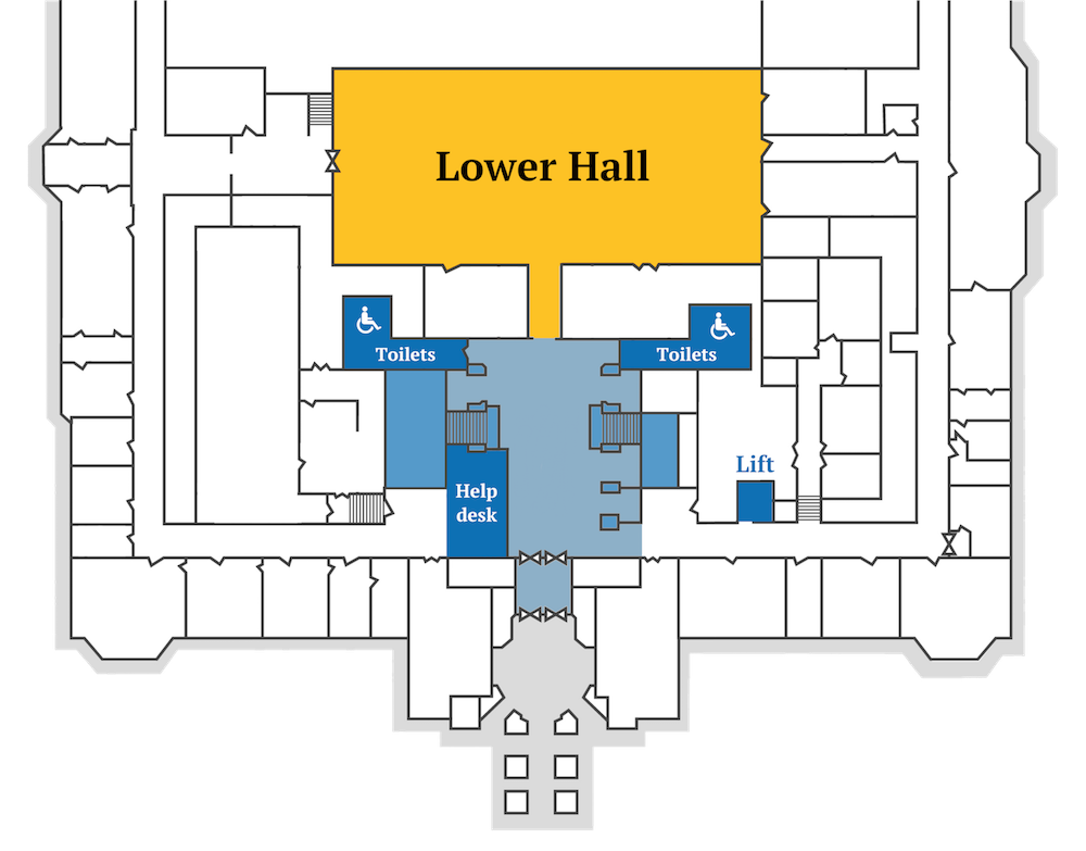A map of the ground floor of City Hall.