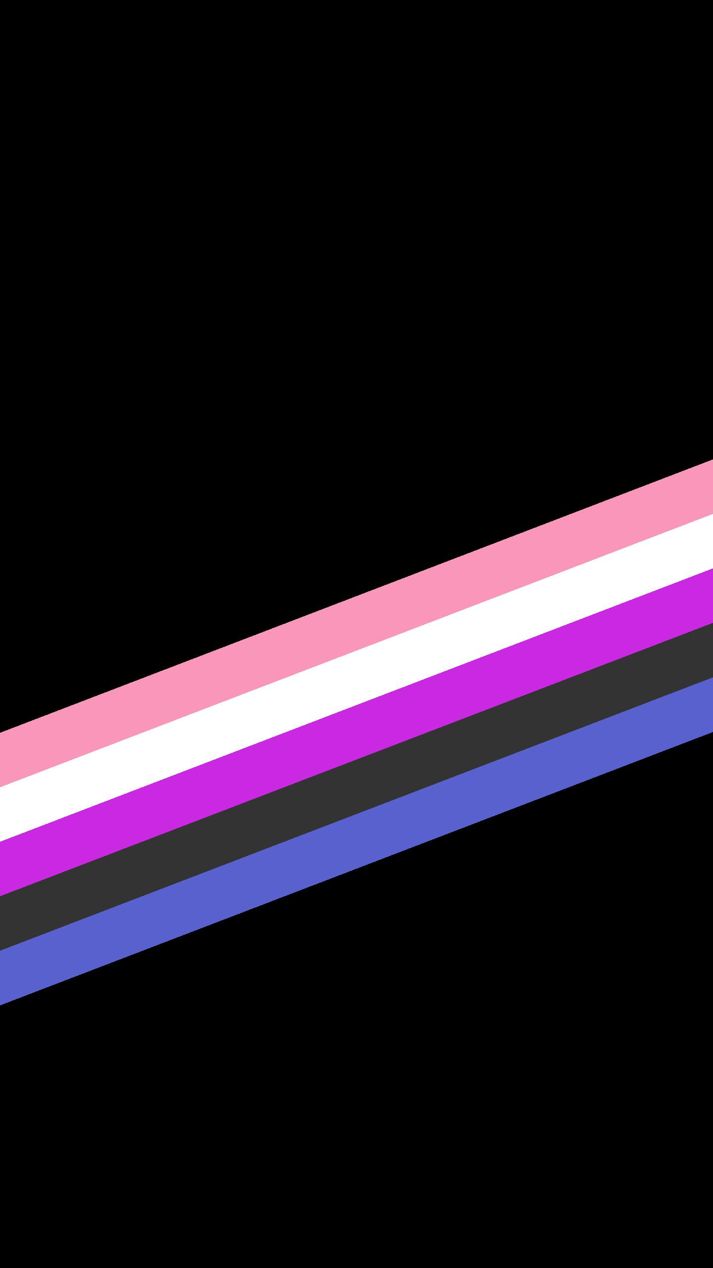 A black wallpaper with pink, white, hot pink, black and purple stripes.