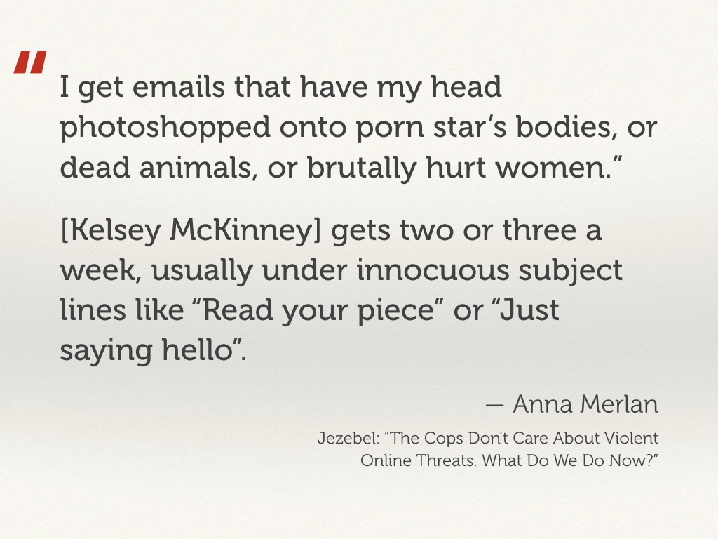 Quote from Anna Merlan about some of the images she received by email.