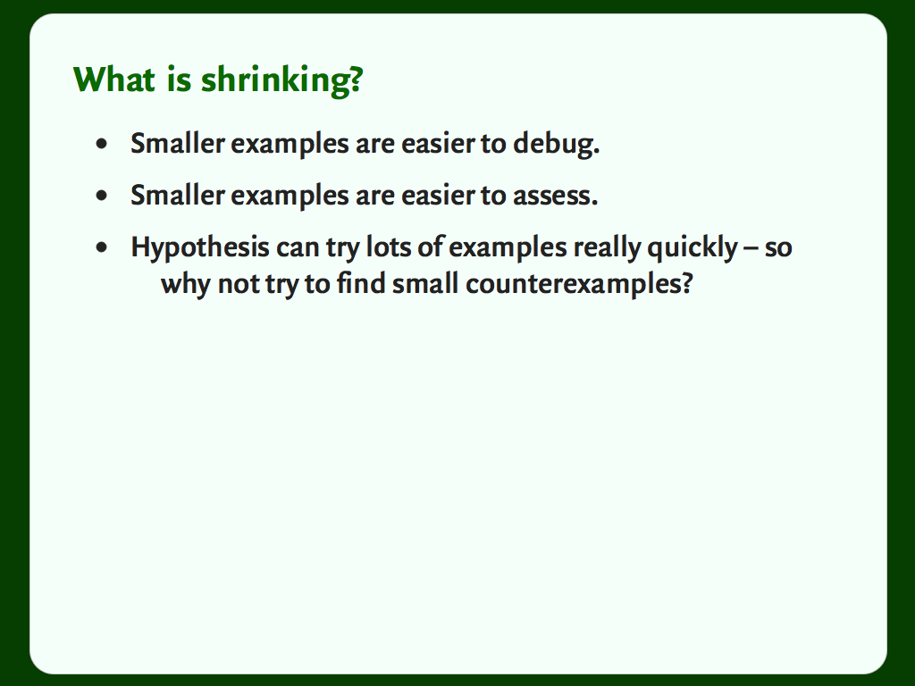 "A slide with a bulleted list: ""What is shrinking?"""