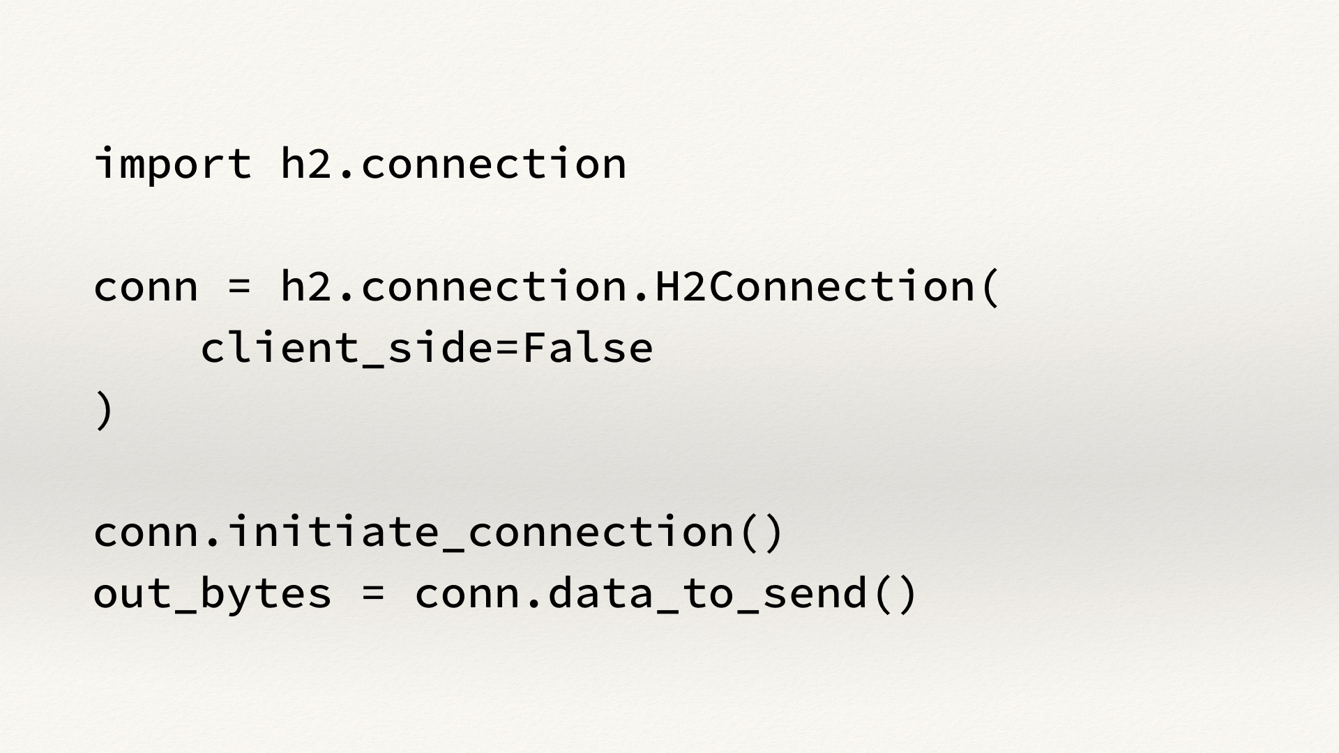 Example code for creating an HTTP/2 server with hyper-h2.