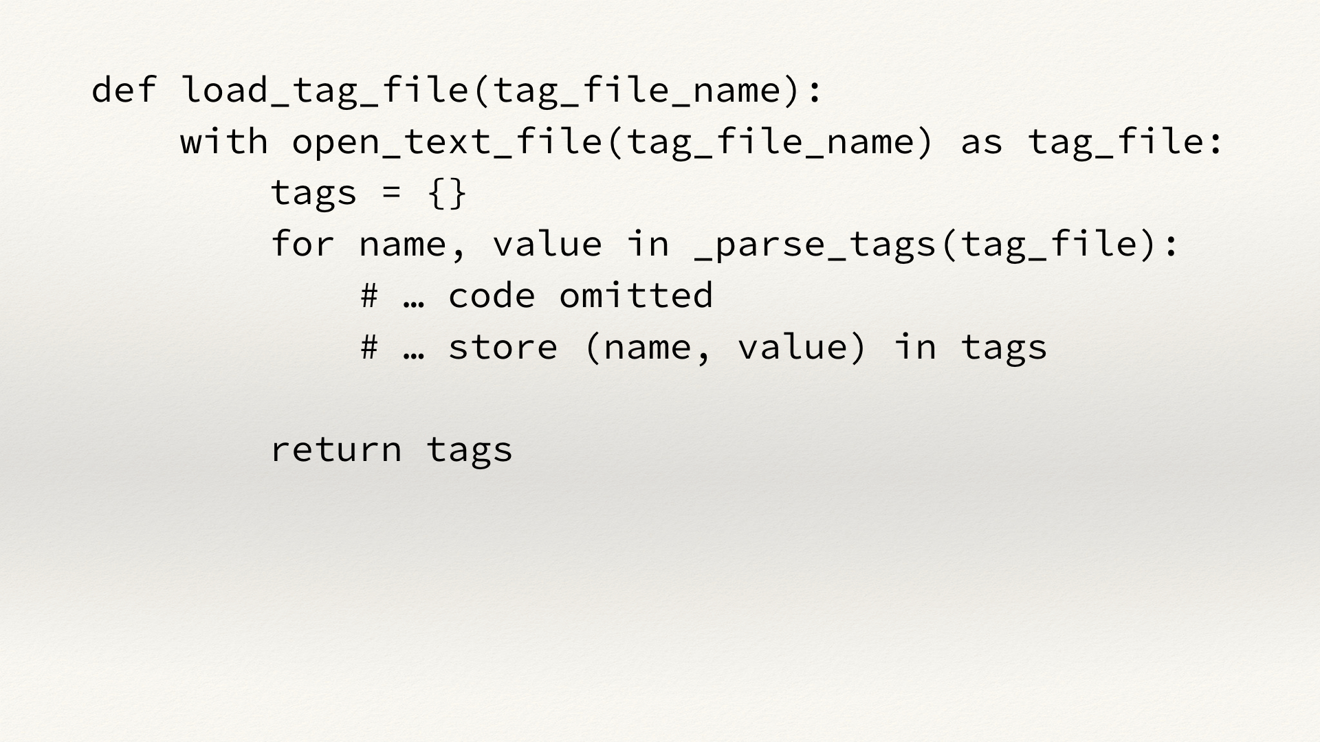 Code for a function called load_tag_file() in the bagit-python library.